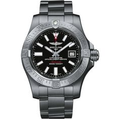 BREITLING Avenger II GMT stainless steel watch (5 795 AUD) ❤ liked on Polyvore featuring men's fashion, men's jewelry, men's watches, mens black face watches, mens stainless steel watches, engraved mens watches, breitling mens watches and mens diamond bezel watches
