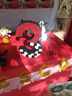 Numero 3d per compleanno tema cars Neymar, Birthday Candles, Symbols, Letters, Fun, Cars, Autos, Letter, Car