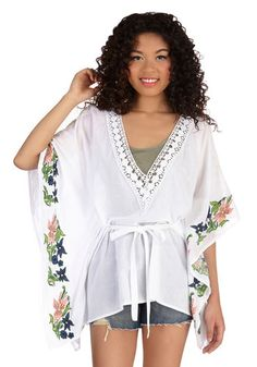 Airy Much So Top. Complement todays warm weather with this breezy white top! #whiteNaN