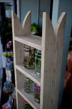 Reclaimed wooden shelving unit / bookcase di Naturalcity su Etsy