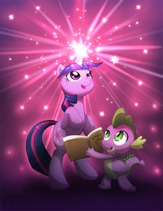 MLP - Twilight Sparkle and Spike by AylaStarDragon.deviantart.com on @deviantART