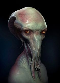 Creatures by Simon Webber// Well isn't he a charmer Alien Creatures, Fantasy Creatures, Mythical Creatures, Creature Feature, Creature Design, Cthulhu, Zbrush, Alien Character, Alien Concept Art