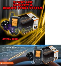 Car Alarms and Security Systems: Brand New Avital 5305 Replaces 5303 2 Way Remote Start Car Alarm Security 5305L -> BUY IT NOW ONLY: $97.2 on eBay!