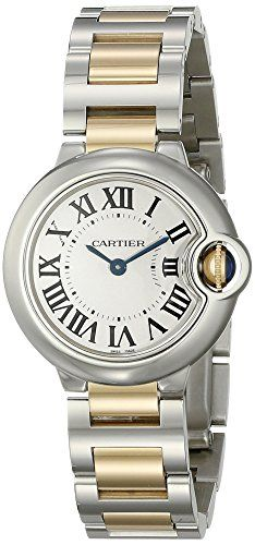 #cartierquartz #cartierwatchesforwomen Cartier Women's W69007Z3 Ballon Bleu Stainless Steel and 18K Gold Watch Check https://www.carrywatches.com