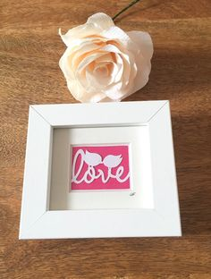 Love Birds pink mini frame pink decor accessories engagment