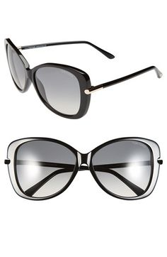 6641345acd6d Free shipping and returns on Tom Ford  Linda  59mm Sunglasses at Nordstrom. com. Metal-inset temples highlight the graceful butterfly silhouette of ...