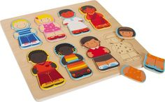 Multi-Cultural Puzzle Represents People From All Over The World.