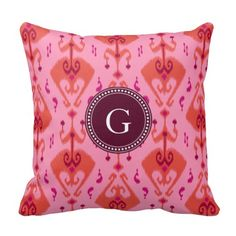 Rest your head on one of Zazzle's Ikat decorative & custom throw pillows. Bedroom Curtains, Drapes Curtains, Monogram Pillows, Ikat, Window Treatments, Decorative Throw Pillows, Girly, Chic, Pattern