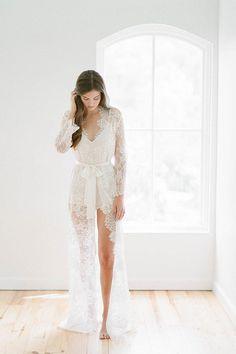 c405d3019fa0 Dream Day Honeymoon Bridal Silk Romper Playsuit in ivory