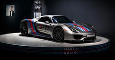 Porsche 918 Spyder in Silver with Martini livery
