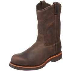 "Chippewa Men's 20076 10"" Steel-Toe Pull-On Boot Chippewa. $153.00. Drill vamp lining. Light-weight Vibram gumlite. Vibram sole. leather. Removable cushion insert"