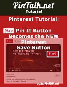 """Pinterest Pin It Button Becomes the Pinterest Save. Pinterest renamed its famed Pinterest Pin it Button to the more globally acceptable """"Save Button."""" [Figure 1] The Pinterest business blog made the announcement last week. Renaming the former Pin it button is another move to make Pinterest more competitive with other social media giants like Facebook, Twitter, Instagram, and Snapchat.  Button"""