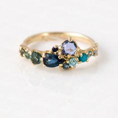 Melanie Casey - Ocean Blue Cluster Ring, $2,800.00 (http://www.melaniecasey.com/ocean-blue-cluster-ring/)