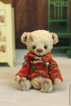 Купить Марик - бежевый, мишка, мишки тедди, мишка ручной работы, мишка в подарок