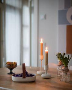 Millainen mökki? - Valkoinen Harmaja Candle Holders, Candles, Porta Velas, Candy, Candle Sticks, Candlesticks, Candle, Candle Stand