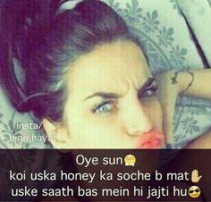 We Fall In Love, Falling In Love, Hindi Quotes, Sad Quotes, Attitude Shayari, Girl Attitude, Puns, Haha, Jokes