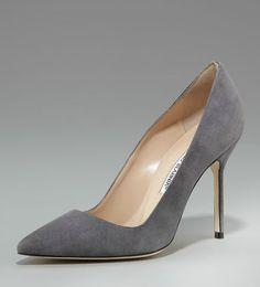 grey pointy toe heels