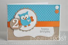 Cute owl using Owl punch -- Pretty Heart, Papercraft by Jennifer Frost: Giggle and Hoot