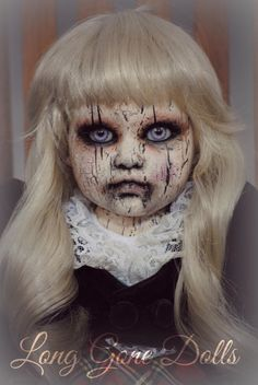 """Britton Leigh"" by Long Gone Dolls. Are you looking for scary horrifying Halloween makeup ideas for women to look the best at the Halloween party? See our photo collage to pick the one that fits the Halloween costume. Halloween Doll, Creepy Halloween, Halloween Projects, Fall Halloween, Halloween Costumes, Halloween Cloche, Outdoor Halloween, Halloween 2019, Halloween Pumpkins"