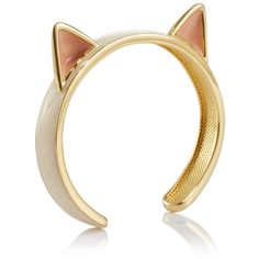cat ears cuff bracelet - wildfox ($66) ❤ liked on Polyvore featuring jewelry, bracelets, rings, accessories, schmuck, cuff bracelet, bangle cuff bracelet, hinged cuff bracelet, cuff bangle and wildfox jewelry
