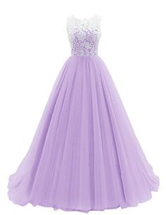 Dresstells Women's Long Tulle Prom Dress Dance Gown with Lace: $119.99 - $148.00(On sale from $356.00)