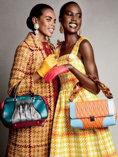 Ajak Deng & Grace Mahary Are 'Not Your Granny's Tweed' By Patrick Demarchelier For Glamour September 2015 - 3 Sensual Fashion Editorials | Art Exhibits - Women's Fashion & Lifestyle News From Anne of Carversville