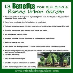 Do you love to garden but are tired of not being successful at it? I was too so I designed a unique new way to garden. Find out 13 benefits to gardening this new way. Never pull weeds or bend over...it's fun, easy, and it works! #urbanliving #gardening