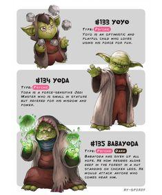 Yoyo - Yoda - Babayoda by Ry-Spirit on DeviantArt Pokemon Crossover, Star Wars Personajes, Disney Crossovers, Twisted Disney, Pokemon Memes, Star Wars Characters, Lilo And Stitch, Star Wars Art, Disney Art