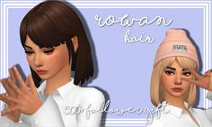 "stephanine-sims: ""500+ Follower Gift (part 2) Hi everyone! This is the second mesh edit I made to celebrate me hitting 500 followers! Thank you all so much! I love you all, aahhh!  I wanted some more simple hairstyles.. something that I would..."