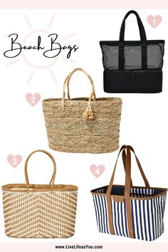 Time to round up all our summer favorite accessories. I've rounded up the top four favorites of swimsuit cover ups, summer purses, beach bags, and hats. Perfect for summertime fun and vacations! Summer Purses, Swimsuit Cover Ups, Beach Bags, Live Life, Must Haves, Straw Bag, Vacations, Summertime, Super Cute