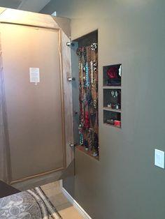 Jewelry storage behind a miror | WIfey's Hidden Wall - Album on Imgur