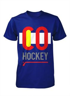 Hockey T shirt Mens COLORADO. $24.99, via Etsy. NEED.