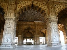 Diwan-i-Khas (Emperor's Private Audience Hall), the Red Fort, Lahore Gate, Old Delhi, India. Build by Shah Jahan, who also designed the Taj Mahal.