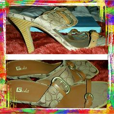 Tan color heels Gidit shoes with comfortable heel. Nice & casual for the summer! Worn once...  Reduced: 10/8/16 Gidit Shoes Heels