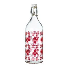Cute glass bottle with cap; could be filled with homemade liquor or drink. $3