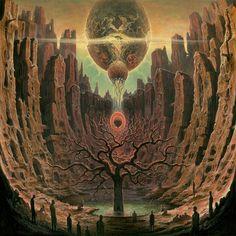Artwork by Dan Seagrave  Reprisal - None Survive the Sun Decrepit Birth (2018)  Thrash/Death Metal