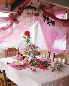 Cute set up for your fairy mystery party