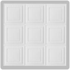 CeilingConnex - White Mission Ceiling Tile 2' x 2', $8.49 (http://www.ceilingconnex.com/white-mission-ceiling-tile-2-x-2/)