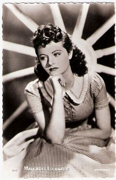 """Beautiful stage and film actress Margaret Lockwood (1916-1990) was the female lead of the early Hitchcock classic The Lady Vanishes (1938). In the 1940's she became Britain's leading box-office star specializing in beautiful but diabolical adventuresses."""