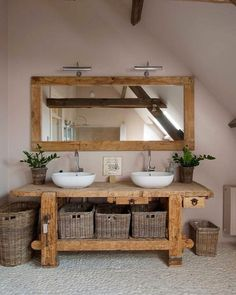 Holz Badezimmer Waschbecken Flusssteine, Wood bathroom sink river stones, – – This image. Rustic Bathroom Vanities, Boho Bathroom, Rustic Bathrooms, Diy Bathroom Decor, Bathroom Furniture, Bathroom Interior, Small Bathroom, Rustic Vanity, Bathroom Ideas