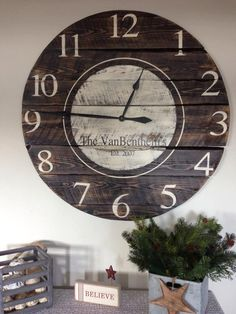 Handmade Reclaimed Wood Clock by ReclaimedRusticShop on Etsy