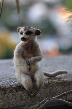 Needle Felted  Wool Animals SlenderTailed  by darialvovsky on Etsy, $62.00