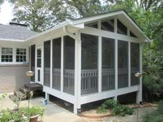 Charlotte screen porch with Eze Breeze windows
