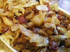 FRIED CABBAGE WITH BACON AND ONION