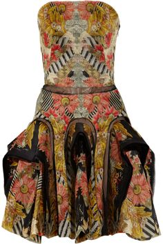 alexander mcqueen folklore-print silk-chiffon dress: love the print