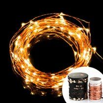 TaoTronics Led String Starry Light Copper Wire Lights for indoor and outdoor (TT-SL032, 100 Leds, Warm White, 33ft)