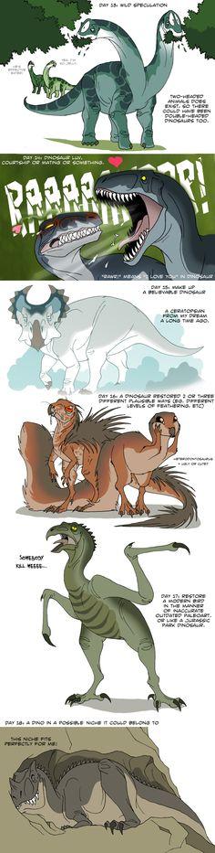Dinosaur challenge 3 by IsisMasshiro on DeviantArt