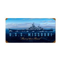 Vintage and Retro Wall Decor - JackandFriends.com - Vintage USS Missouri Metal Sign 24 x 12 Inches Inches, $47.97 (http://www.jackandfriends.com/vintage-uss-missouri-metal-sign-24-x-12-inches-inches/)