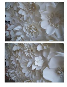 Paper flower backdrop by LovePaperBlooms on Etsy