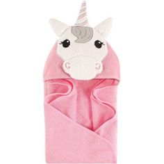 Hudson Baby Girls' Animal Hooded Towel, Choose Your Color, Multicolor